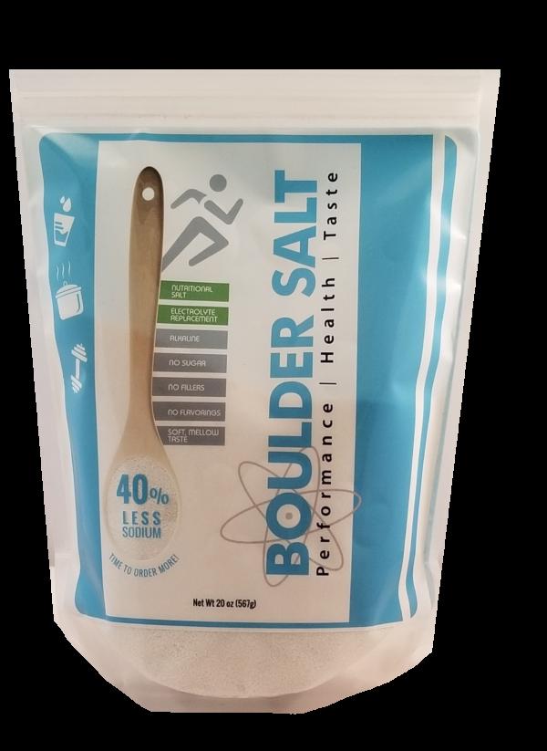 20 Oz Resealable Bag of Healthy Salt   Boulder Salt Company