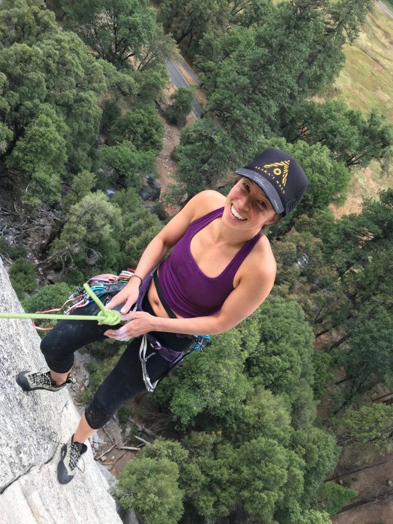 Beata Tou Climbing Bishop Terrace
