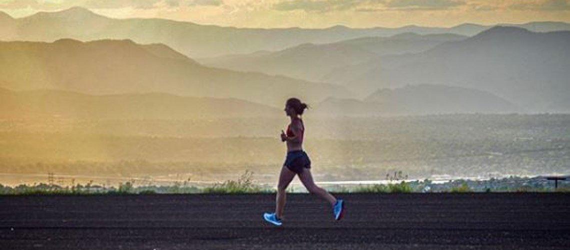 DMR runner by lake